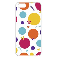 Background Polka Dot iPhone 5 Seamless Case (White)