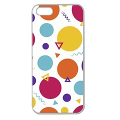 Background Polka Dot Apple Seamless iPhone 5 Case (Clear)