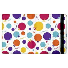 Background Polka Dot Apple iPad 2 Flip Case