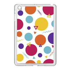 Background Polka Dot Apple iPad Mini Case (White)