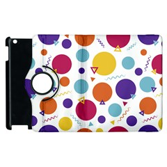 Background Polka Dot Apple iPad 2 Flip 360 Case