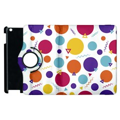 Background Polka Dot Apple iPad 3/4 Flip 360 Case