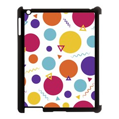 Background Polka Dot Apple iPad 3/4 Case (Black)