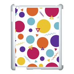 Background Polka Dot Apple iPad 3/4 Case (White)