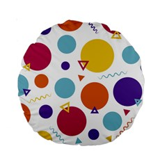 Background Polka Dot Standard 15  Premium Round Cushions