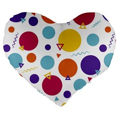 Background Polka Dot Large 19  Premium Heart Shape Cushions