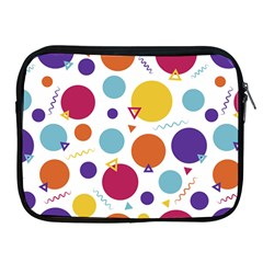 Background Polka Dot Apple iPad 2/3/4 Zipper Cases