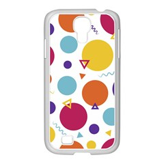 Background Polka Dot Samsung GALAXY S4 I9500/ I9505 Case (White)