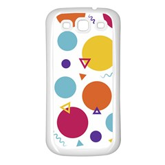 Background Polka Dot Samsung Galaxy S3 Back Case (White)