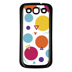Background Polka Dot Samsung Galaxy S3 Back Case (Black)