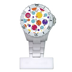 Background Polka Dot Plastic Nurses Watch