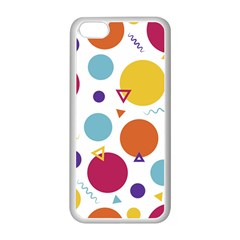 Background Polka Dot iPhone 5C Seamless Case (White)