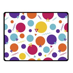 Background Polka Dot Double Sided Fleece Blanket (Small)