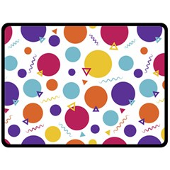 Background Polka Dot Double Sided Fleece Blanket (Large)