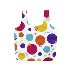 Background Polka Dot Full Print Recycle Bag (S)