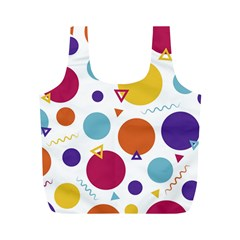 Background Polka Dot Full Print Recycle Bag (M)