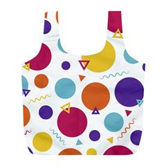 Background Polka Dot Full Print Recycle Bag (L)
