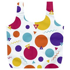 Background Polka Dot Full Print Recycle Bag (XL)