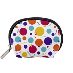 Background Polka Dot Accessory Pouch (Small)