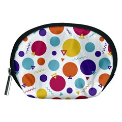 Background Polka Dot Accessory Pouch (Medium)
