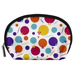 Background Polka Dot Accessory Pouch (Large)