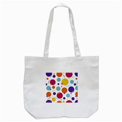 Background Polka Dot Tote Bag (White)