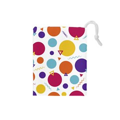 Background Polka Dot Drawstring Pouch (Small)