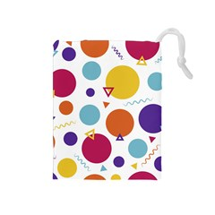 Background Polka Dot Drawstring Pouch (Medium)