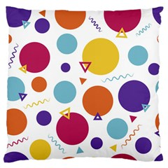Background Polka Dot Large Flano Cushion Case (One Side)