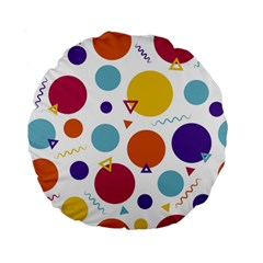 Background Polka Dot Standard 15  Premium Flano Round Cushions