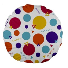 Background Polka Dot Large 18  Premium Flano Round Cushions
