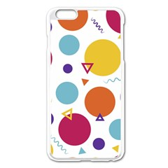 Background Polka Dot iPhone 6 Plus/6S Plus Enamel White Case