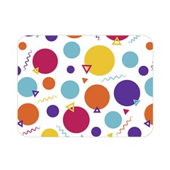 Background Polka Dot Double Sided Flano Blanket (Mini)
