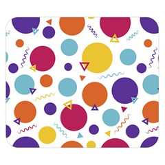 Background Polka Dot Double Sided Flano Blanket (Small)
