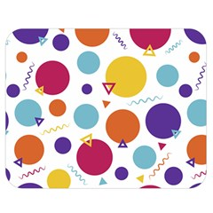 Background Polka Dot Double Sided Flano Blanket (Medium)
