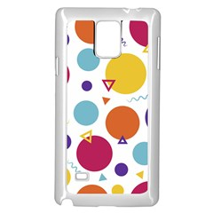 Background Polka Dot Samsung Galaxy Note 4 Case (White)