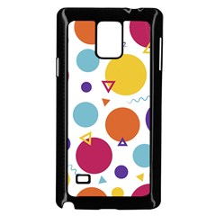 Background Polka Dot Samsung Galaxy Note 4 Case (Black)