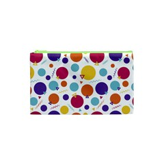 Background Polka Dot Cosmetic Bag (XS)