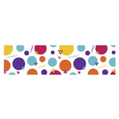 Background Polka Dot Satin Scarf (Oblong)