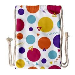Background Polka Dot Drawstring Bag (Large)