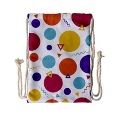 Background Polka Dot Drawstring Bag (Small)