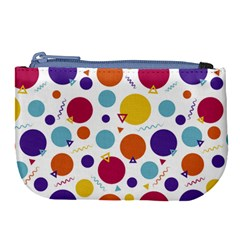 Background Polka Dot Large Coin Purse