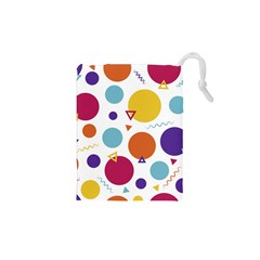 Background Polka Dot Drawstring Pouch (XS)