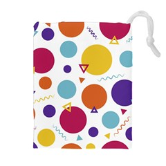 Background Polka Dot Drawstring Pouch (XL)