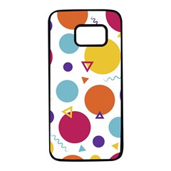 Background Polka Dot Samsung Galaxy S7 Black Seamless Case