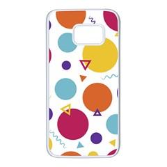 Background Polka Dot Samsung Galaxy S7 White Seamless Case