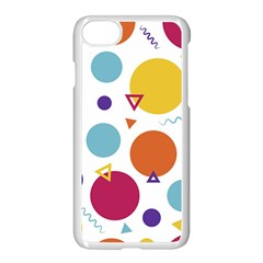 Background Polka Dot iPhone 8 Seamless Case (White)