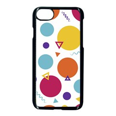 Background Polka Dot iPhone 8 Seamless Case (Black)
