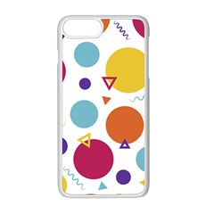 Background Polka Dot iPhone 8 Plus Seamless Case (White)