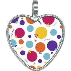 Background Polka Dot Heart Necklace